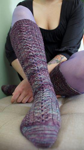 Knitting Freelance : The dauphine s stockings by emma welford in malabrigo sock