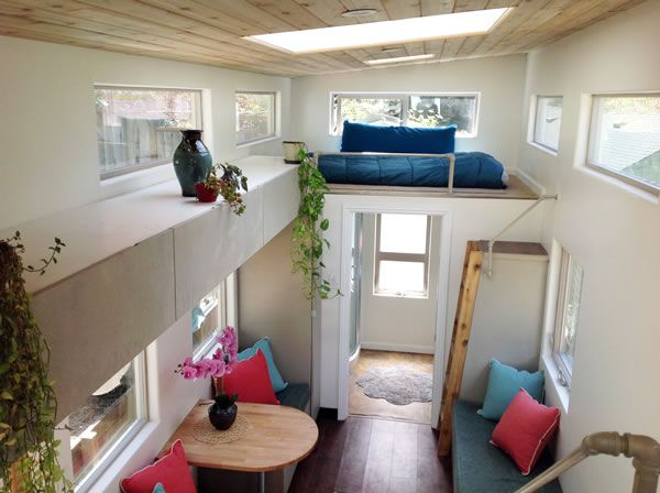 Tiny Home for Sale, Tiny House for Sale, Newly built 340 square feet light filled Tiny-Home (Tiny-House) offered for $65,800.00, Home was built using mostly eco friendly materials, Spacious Tiny Home on Wheels for sale