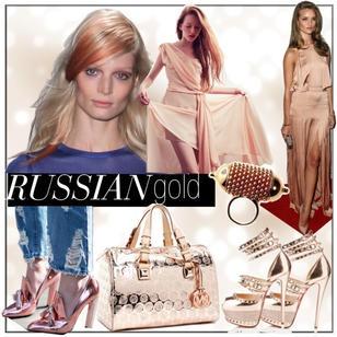 """russian gold  Russian gold to silny trend ostatnich sezonów. Chodzi o to aby kolor biżuterii był intensywnie różowy. Projektanci chętnie sięgają po ten odcień a nawet zestawiają go odważnie z klasycznym złotem czy srebrem. Jak mawiają eksperci """"ze srebra dojrzewa się do złota a później jest tylko russian gold""""! Cudownie wygląda na skórze każdej karnacji!"""