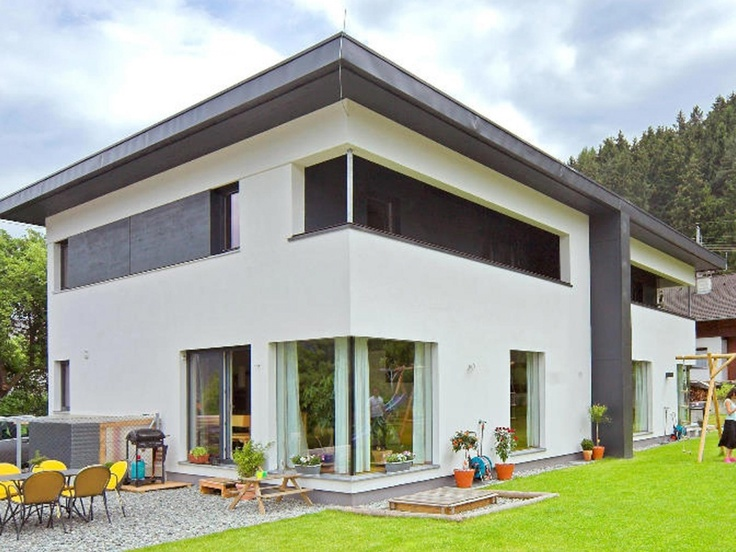 moderne doppelh user pultdach. Black Bedroom Furniture Sets. Home Design Ideas