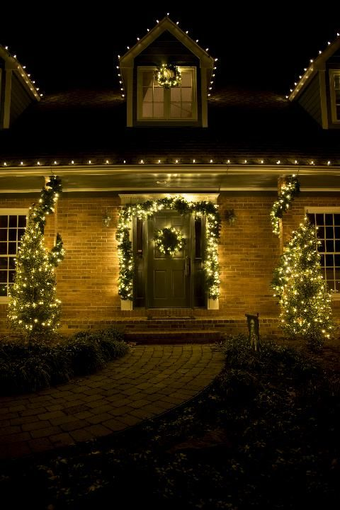client had us install christmas lights on her beautiful waterfront home in severna park we used led bulbs in white red green and multi color - Red Green White Christmas Lights