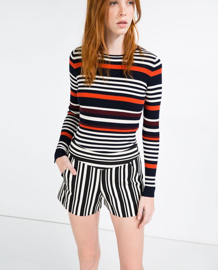 Image 1 of MULTICOLORED STRIPED SWEATER from Zara
