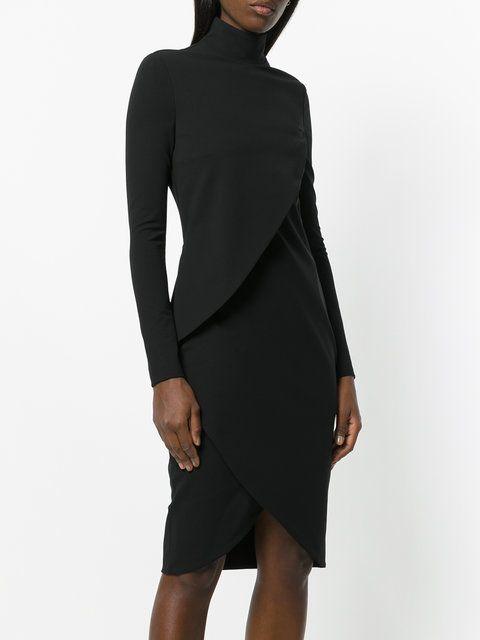 Givenchy vestido midi ajustado con cuello alto