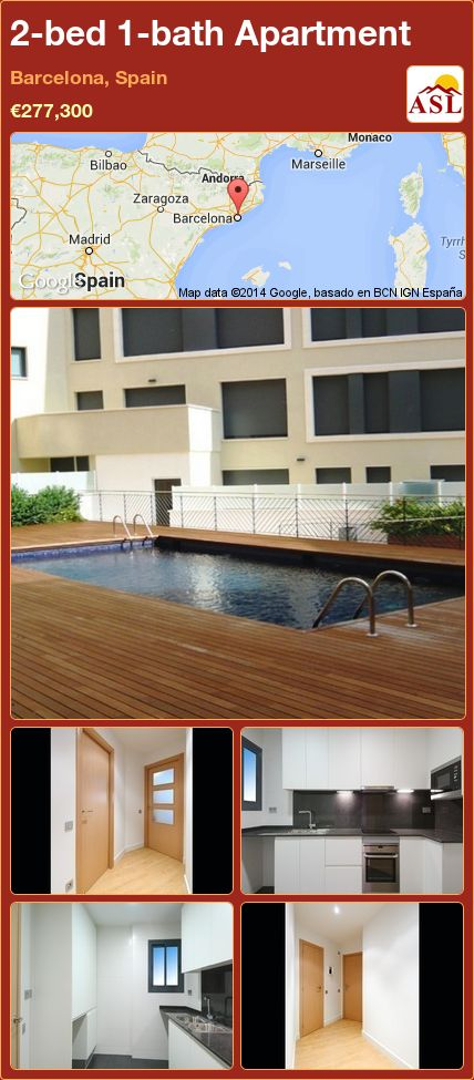 2-bed 1-bath Apartment in Barcelona, Spain €277,300 # ...