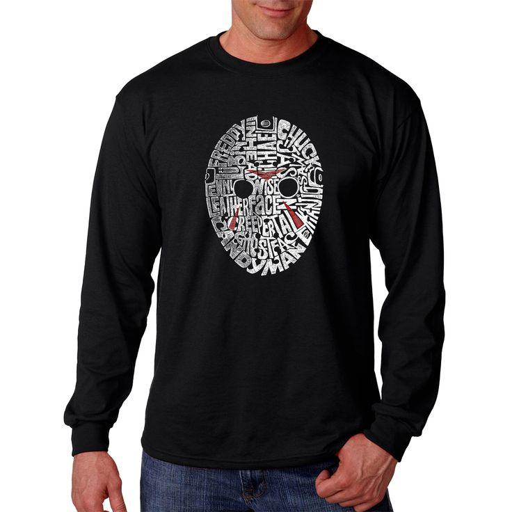 Los Angeles Pop Art Men's Slasher Movie Villains Long-sleeve T-shirt