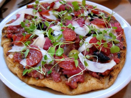 Tartare #Pizza at ABV #Wine Bar in #NYC's Upper East Side