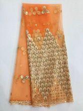 Freies verschiffen heißer verkauf indische stickerei schnürsenkel net afrikanische französisch spitze stoff mit Pailletten für hochzeitskleid (DP-7)(China (Mainland))