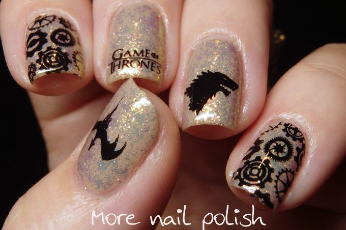 Game of Thrones Nail art featuring Colors by Llarowe Mine is Nine