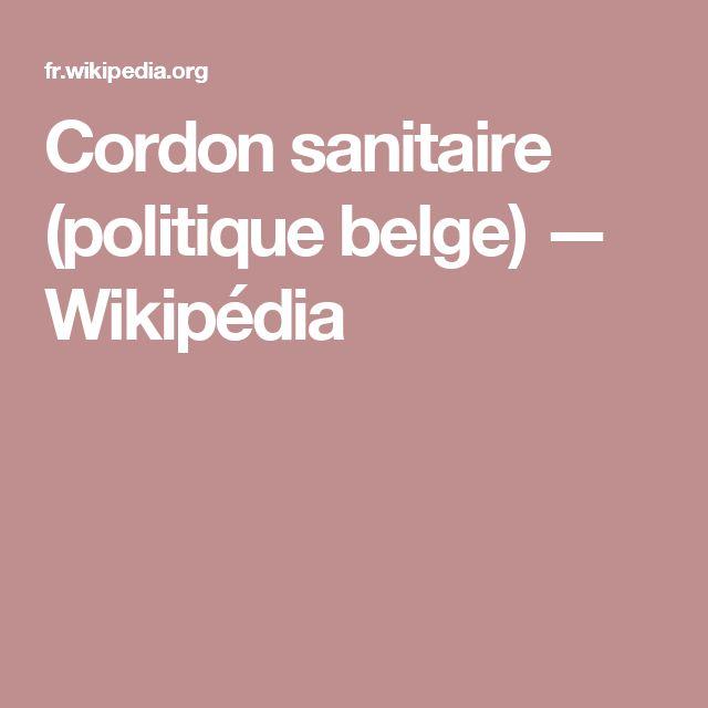 Cordon sanitaire (politique belge) — Wikipédia