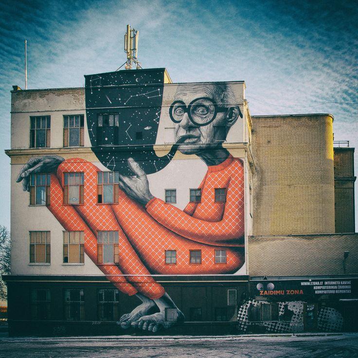 Best Art Street Images On Pinterest Art Photographers - Artist paints incredible seaside murals balanced on surfboard