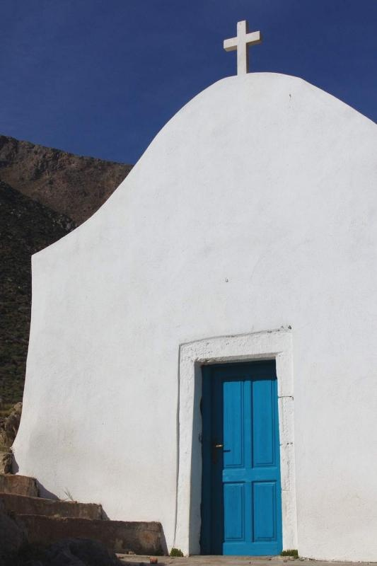 there's a little church in every town and village in crete... cretans are proud that they now can practice Christianity freely - gliko nero, crete