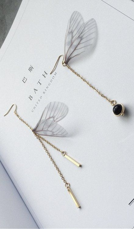 Exquisite Butterfly Wing Earrings