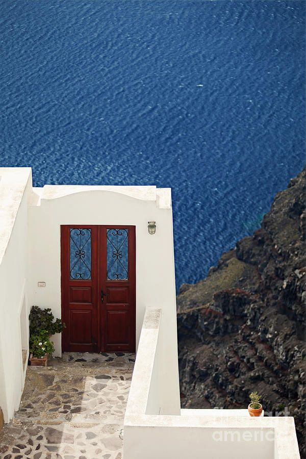 Door Facing The Aegean Sea
