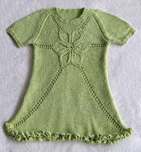Ravelry: Girl's Flower Dress pattern by Ewelina Murach. 1-8 years