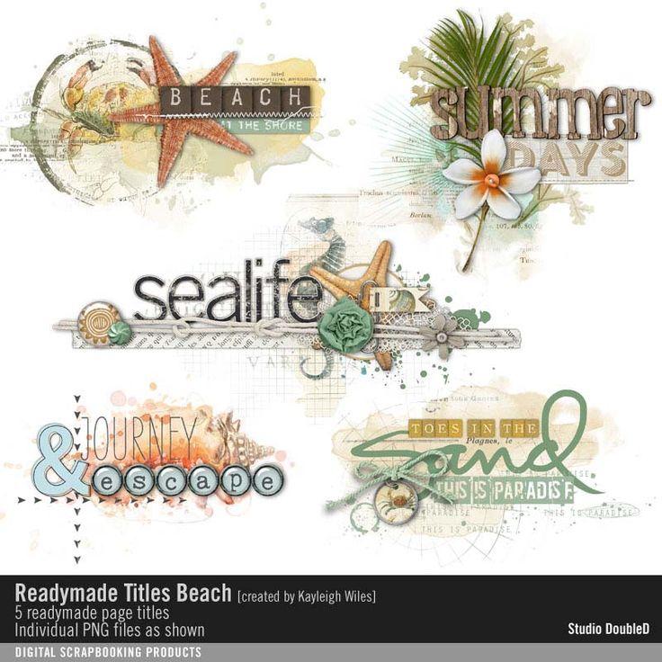 Readymade Titles: Beach No. 01- Studio Double-D Elements- EL215282- DesignerDigitals