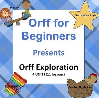 This huge unit includes 11 lessons in 4 sections from Orff for Beginners. There's mallet exploration, Orff exploration, and two beginning Orff pieces. This is how we start teaching Orff from the very first day. If you teach the whole unit, your students will have a great understanding of how to play xylophones correctly, and how to have a great steady beat on the instruments by the end.