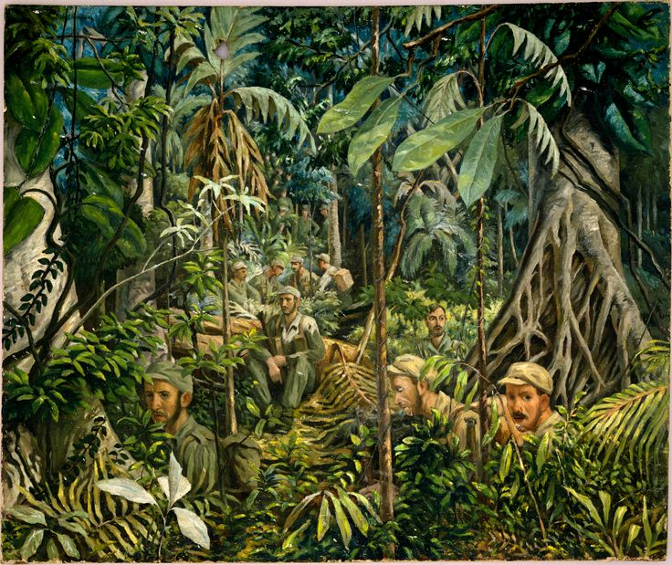 Us Troops In The Jungle Vietnam War Art Pinterest