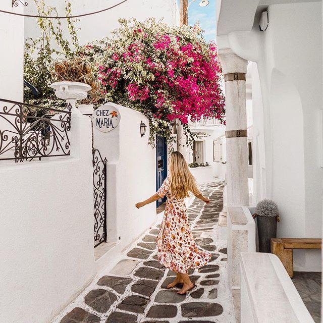 Dancing through the streets of Mykonos     #mykonos #greece