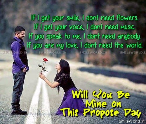 Happy Propose Day SMS Wishes 2016