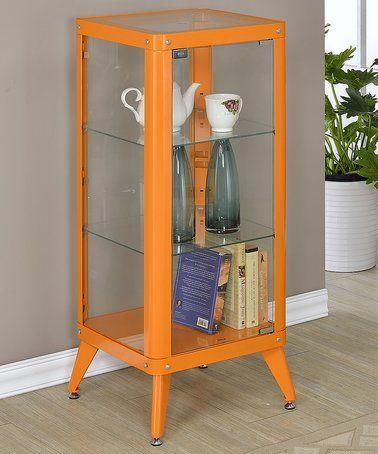 Orange Window Cabinet Display Case #zulily #zulilyfinds