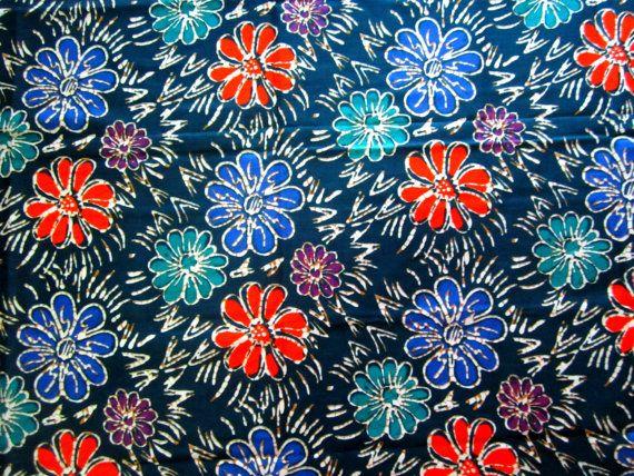Cotton  Batik  Dark Green Floral  Sarong