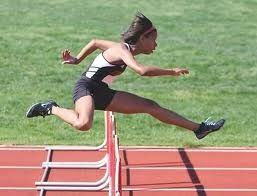 In hurdling, nearly all lead leg problems are caused by poor pelvic posture or by being too close to the hurdle at takeoff. Description from completetrackandfield.com. I searched for this on bing.com/images
