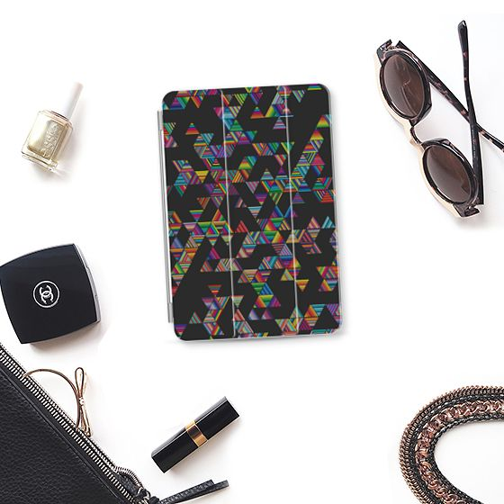 Rainbow Night Rain iPad Mini 4 Cover by Fimbis | Casetify  #ipad #geometric #rainbow #apple #accessories