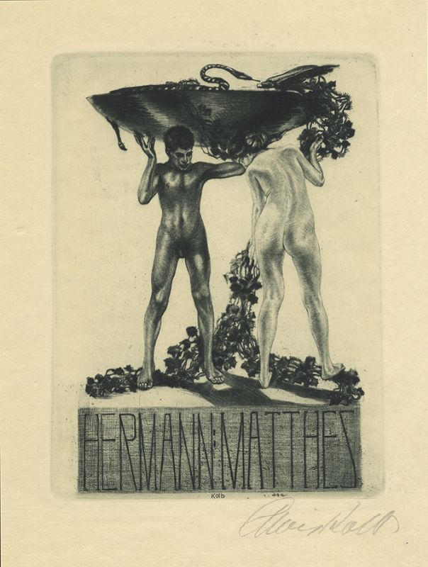 Bookplate by Alois Kolb for Hermann Matthes, ????