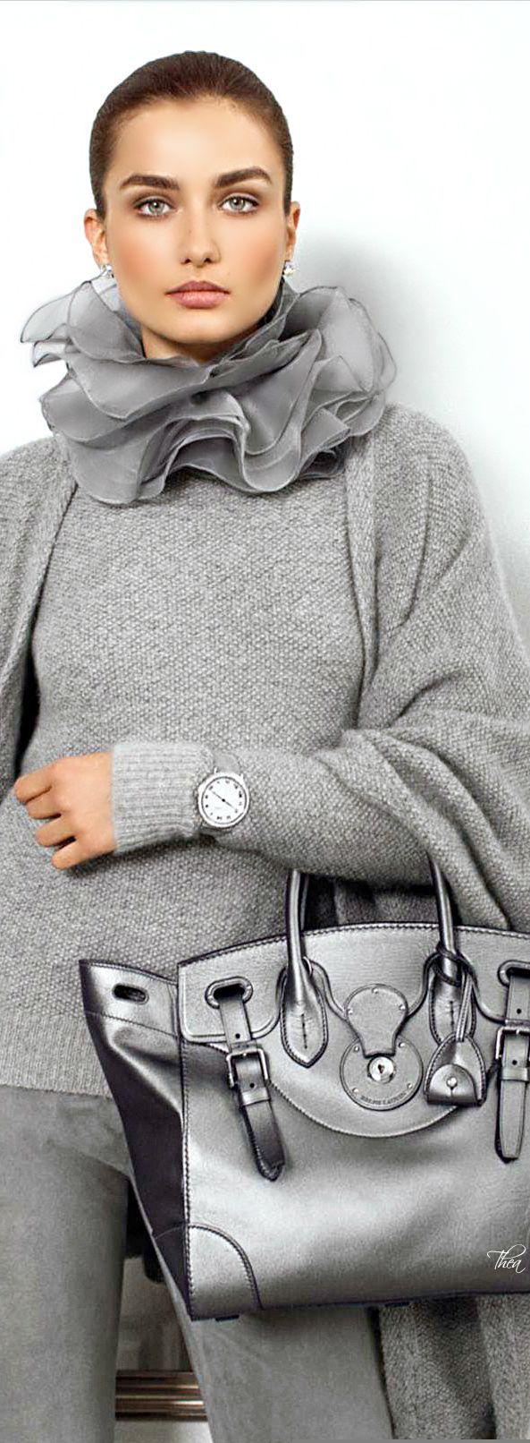 Ralph Lauren from head to toe. Notice the grey strap on the Ralph Lauren watch?
