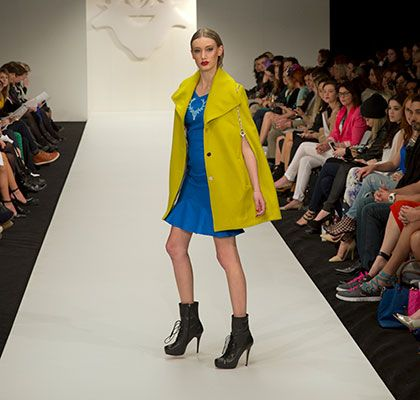 Love the colour combo. Andrea Moore 2014 NZFW