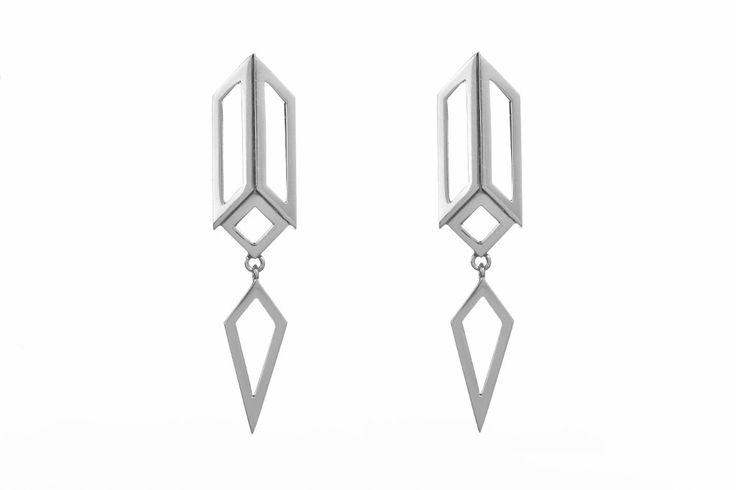 Decoart drop earrings (white)