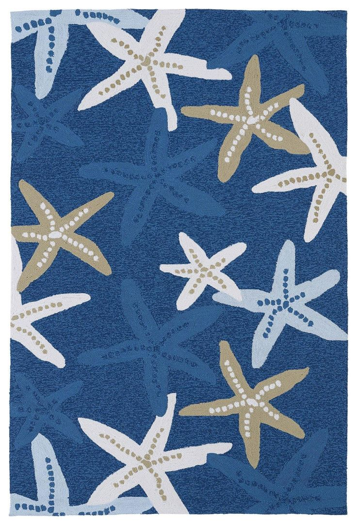 Blue Starfish Indoor/Outdoor Rugs $75-$1,225
