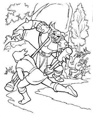 Excalibur coloring page 15