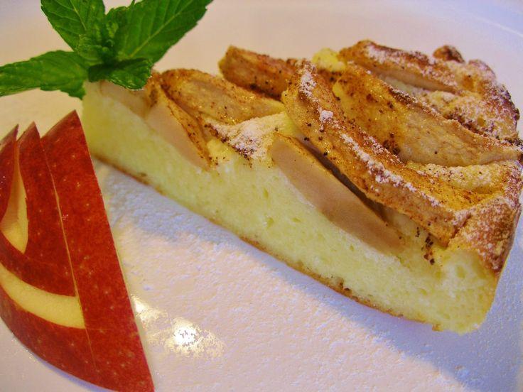 V kuchyni vždy otevřeno ...: Jablkový tvarožník bez mouky