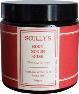 Rose Body Scrub $10.90 NZD Natural New Zealand Sea Salt and Brown Sugar combined with refreshing essential oils to make a luxurious exfoliating body scrub. Almond and Olive Oils rich in vitamins help protect your skin from sun damage and signs of ageing as well as acting as a moisturiser to soften and smooth your skin.  Skin is transformed to silky smooth as dead cells are massaged away.
