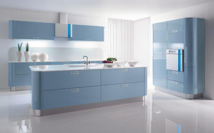 Silver Futuristic Kitchen Interior Design