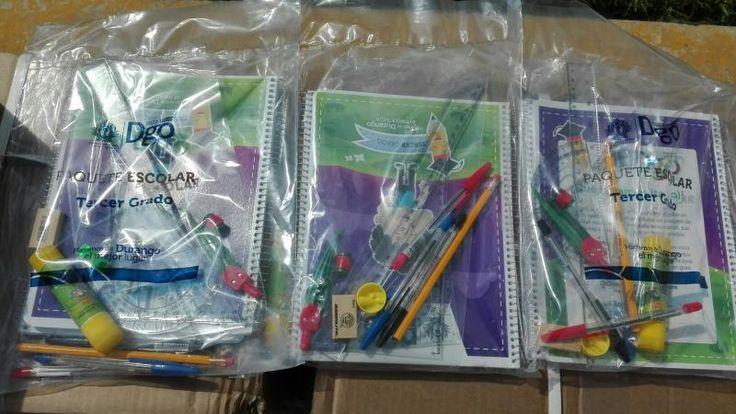 SEP entregará paquetes escolares en la Laguna de Durango.