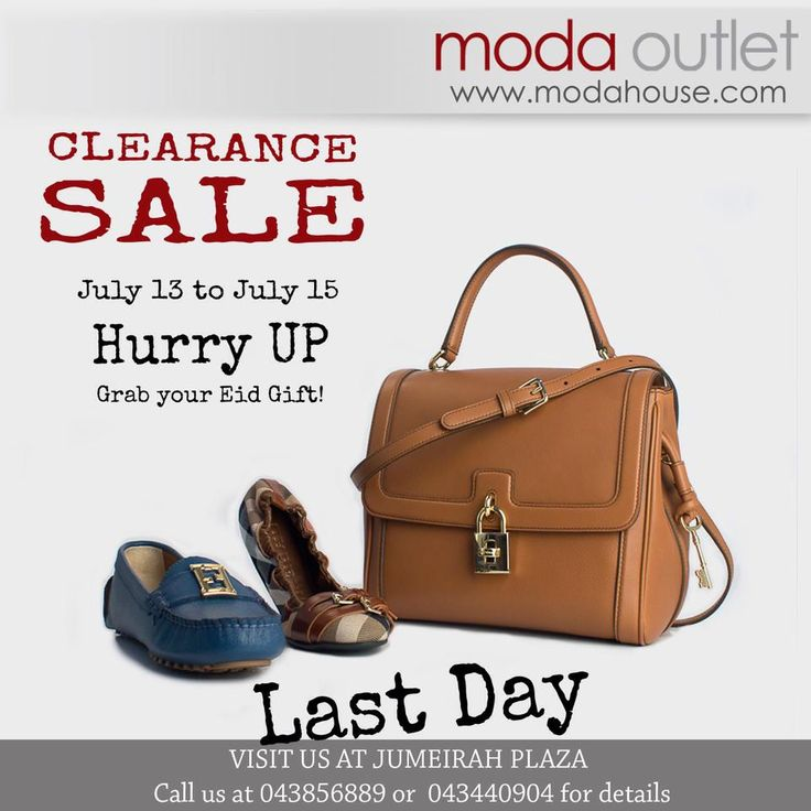 LAST DAY FOR CLEARANCE SALE! VALENTINO,GUCCI, FENDI, YSL, D&G AND TOMFORD. Shoes, Bags and Accessories offers up to 75% from retail price. Hurry up and grab your EID GIFT! All our items are genuine and 100% authentic. www.modahouse.com #discount #sale #promotion #fashion #fashionsale #uaefashion #uae #dubai #dxb #دبي #الامارات #modahouse #modaoutlet