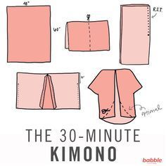 DIY This Pretty Kimono in Less Than 30 Minutes! // willing to try this if I had money for fabric