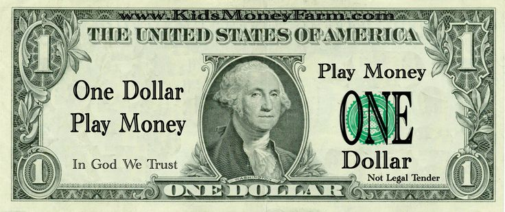 1 Dollar Bills Fake Money Printables - Legitimate Work At Home Opportunities – Recommended & Reviewed
