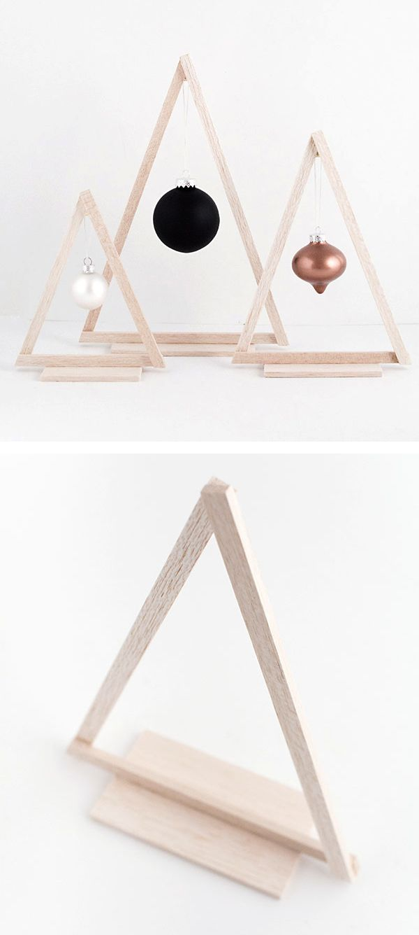 DIY wood christmas tree decor