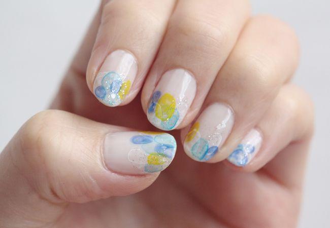 Nail Art: Watercolour Nails with Acrylic Paints