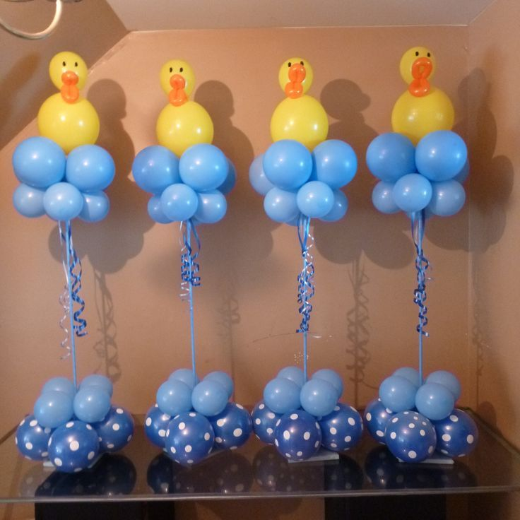 Centros de mesa patito informaci n 0984633011 info for Baby shower decoration ideas with balloons