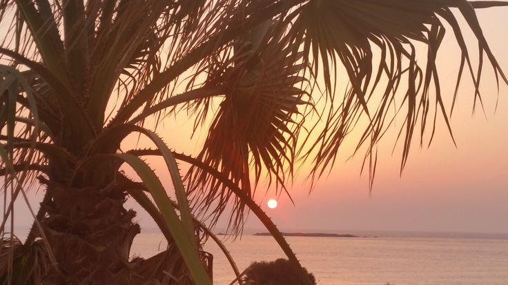 Falassarna, Crete, Greece - sunset in a palm tree #trivo