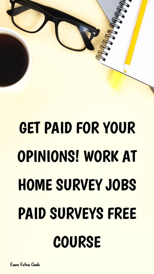 Get Paid For Your Opinions! Work At Home Survey Jo…