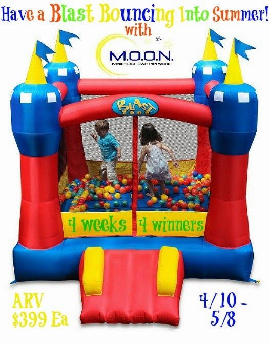 Have A Blast Jumping Into Summer #Giveaway - 4 People will win a Bouncy House!  Mom 'N Daughter Savings