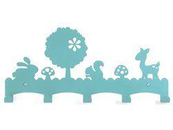Kinderkapstok Woodland Blauw Eina Design