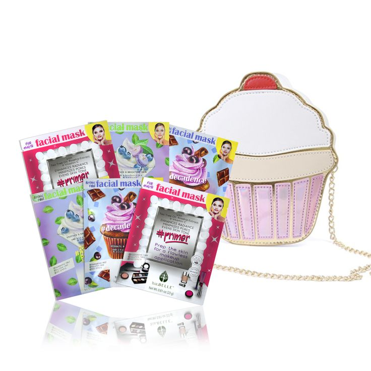 BAE knows how much you care – this gift set is just the cherry on top! Indulge in the sweetest skincare! What's inside: 6 Assorted sheet masks 1 FREE Cupcake Clutch  Masks included: 2 #Decadence Hydrates & Revitalizes sheet masks. With Chocolate & Acai Berry. 2 #Primer Enhances Radiance sheet masks. With Tea Tree Oil & Vitamin C. 2 #AfterParty Soothes & Brightens sheet masks. With Yogurt & Blueberries.  Real women, real results! 9 out of 10 women felt their skin smooth...