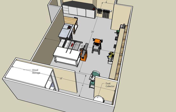 74 best images about workshop layout on pinterest shops for Garage woodshop plans