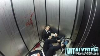 This guy's seen way too many elevator pranks - Imgur  hilarious GIF